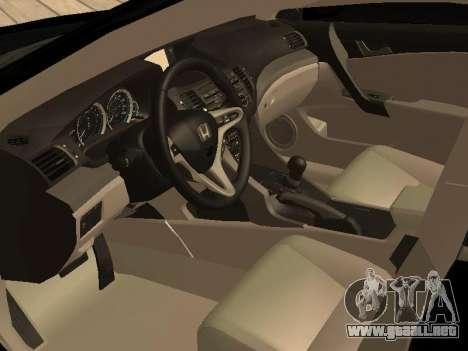 Honda Accord 2010 V2.0 para la visión correcta GTA San Andreas