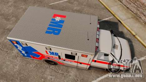 Brute Liberty Ambulance [ELS] para GTA 4 visión correcta