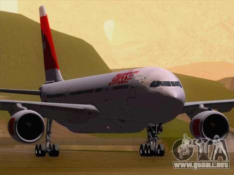 Airbus A330-223 Swiss International Airlines para GTA San Andreas left