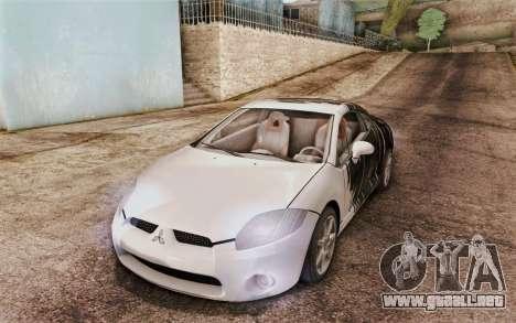 Mitsubishi Eclipse GT v2 para GTA San Andreas vista hacia atrás