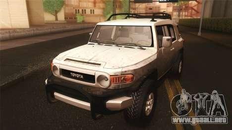 Toyota FJ Cruiser 2012 para visión interna GTA San Andreas