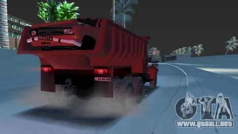 Camión KrAZ 255 para GTA Vice City visión correcta