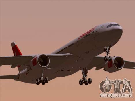 Airbus A330-223 Swiss International Airlines para la vista superior GTA San Andreas