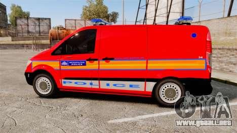 Mercedes-Benz Vito Metropolitan Police [ELS] para GTA 4 left