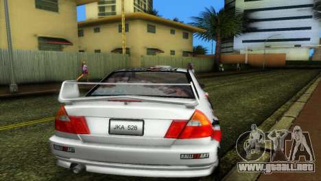Mitsubishi Lancer Rally para GTA Vice City visión correcta