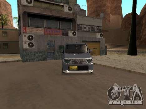 Suzuki Alto Lapin para GTA San Andreas vista posterior izquierda