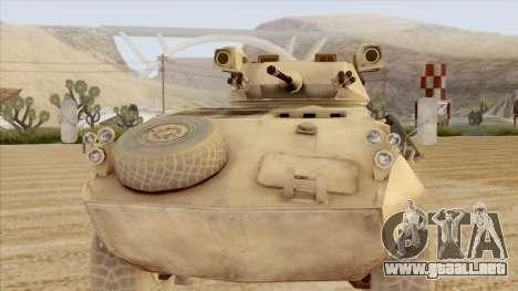 LAV-25 Desert Camo para GTA San Andreas vista posterior izquierda