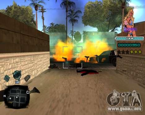 C-HUD Quintero para GTA San Andreas tercera pantalla