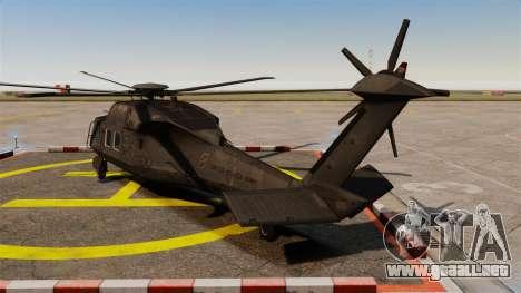 Sikorsky MH-X Silent Hawk [EPM] para GTA 4 Vista posterior izquierda