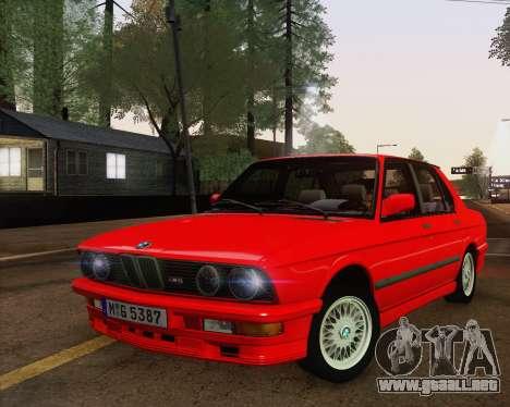 BMW M5 E28 para visión interna GTA San Andreas