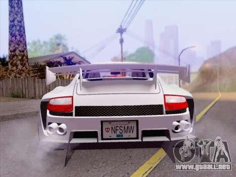 Porsche Carrera S para la vista superior GTA San Andreas