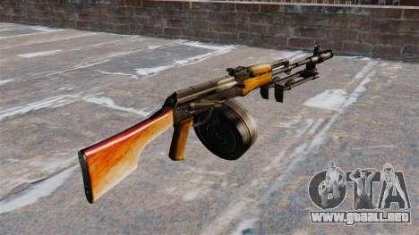 La ametralladora RPK-74 ligera para GTA 4 segundos de pantalla