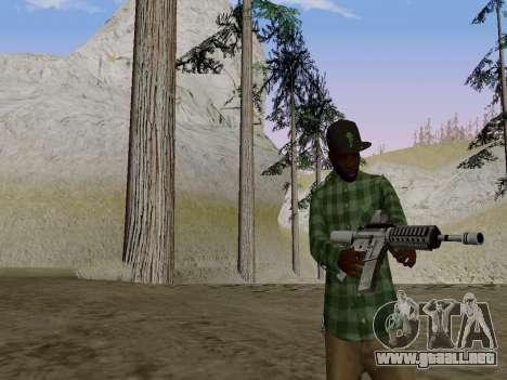 El pandillero de Grove Street de GTA 5 para GTA San Andreas segunda pantalla
