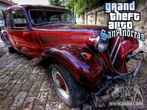New loadscreen Old Cars para GTA San Andreas séptima pantalla