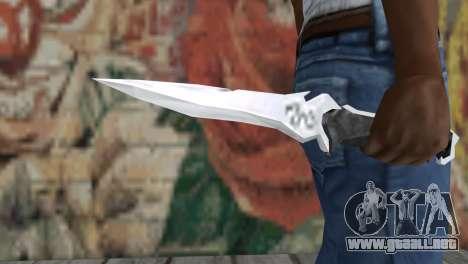 Cuchillo Krauzera para GTA San Andreas tercera pantalla