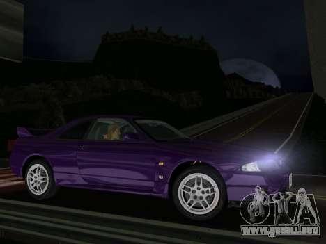 Nissan SKyline GT-R BNR33 para GTA Vice City left