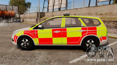 Ford Focus Estate 2009 Fire Car England [ELS] para GTA 4 left