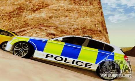 BMW 120i SE Police para la vista superior GTA San Andreas