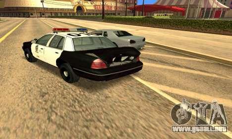 Ford Crown Victoria Police LV para la vista superior GTA San Andreas