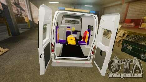 Renault Master French Red Cross [ELS] para GTA 4 vista interior