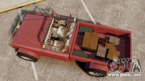GTA V Canis Bodhi (Trevor Car) para GTA 4 visión correcta
