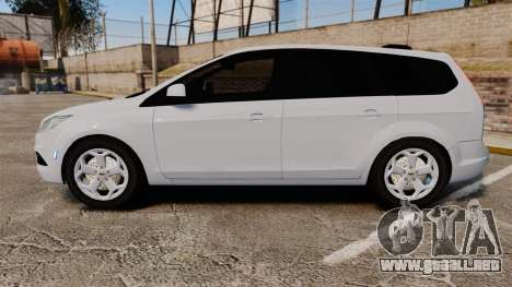 Ford Focus Estate 2009 Unmarked Police [ELS] para GTA 4 left
