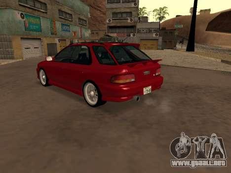 Subaru Impreza Wagon para GTA San Andreas vista posterior izquierda