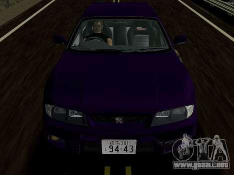 Nissan SKyline GT-R BNR33 para GTA Vice City vista lateral izquierdo