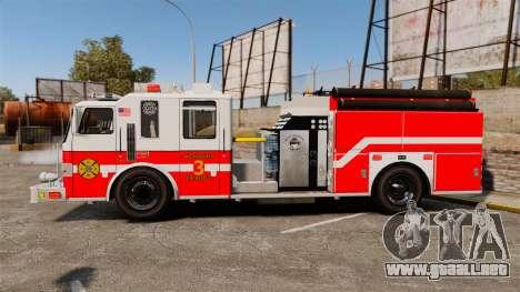 Firetruck Woonsocket [ELS] para GTA 4 left