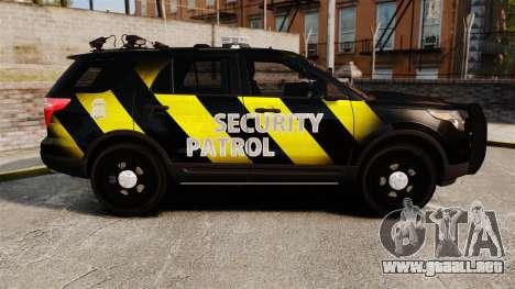 Ford Explorer 2013 Security Patrol [ELS] para GTA 4 left