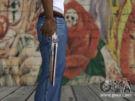 Una escopeta recortada de un acosador para GTA San Andreas tercera pantalla