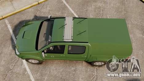Toyota Hilux Finnish Military Police [ELS] para GTA 4 visión correcta
