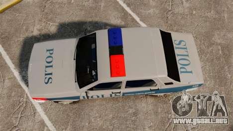 Renault 12 Turkish Police para GTA 4 visión correcta