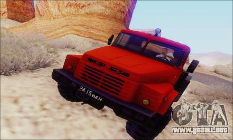 KrAZ 260v para GTA San Andreas vista posterior izquierda