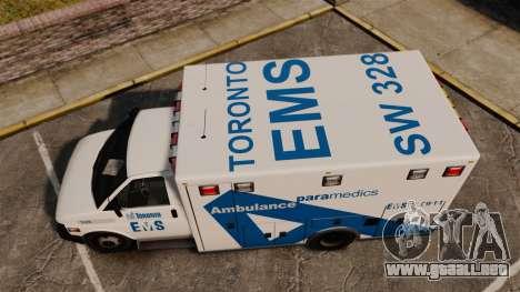 Brute Ambulance Toronto [ELS] para GTA 4 visión correcta