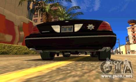 Ford Crown Victoria Police LV para GTA San Andreas vista posterior izquierda