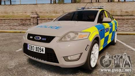 Ford Mondeo Metropolitan Police [ELS] para GTA 4