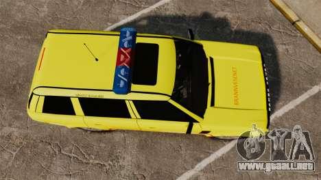 Range Rover Vogue Brannvesenet para GTA 4 visión correcta