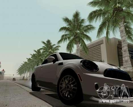 MINI Cooper S 2012 para GTA San Andreas vista posterior izquierda