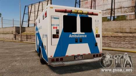 Brute Ambulance Toronto [ELS] para GTA 4 Vista posterior izquierda