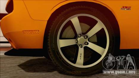 Dodge Challenger SRT8 2012 HEMI para GTA San Andreas vista posterior izquierda