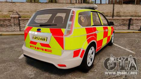 Ford Focus Estate 2009 Fire Car England [ELS] para GTA 4 Vista posterior izquierda