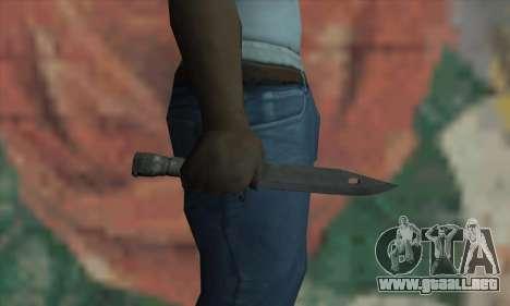 Knife para GTA San Andreas tercera pantalla