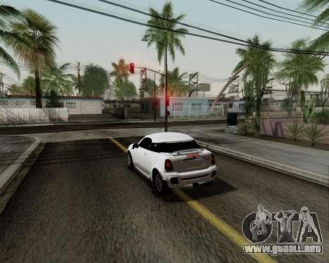 MINI Cooper S 2012 para visión interna GTA San Andreas