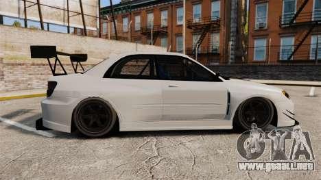Subaru Impreza v2.0 para GTA 4 left