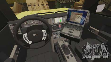 Range Rover Vogue Brannvesenet para GTA 4 vista hacia atrás
