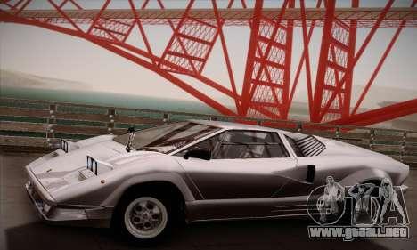 Lamborghini Countach 25th Anniversary para la visión correcta GTA San Andreas