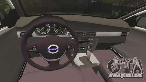 Volvo V70 Unmarked Police [ELS] para GTA 4 vista interior