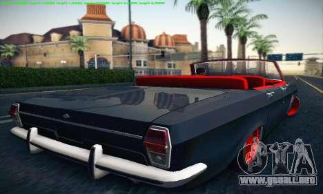 GAZ Volga 24 Cabriolet para la visión correcta GTA San Andreas