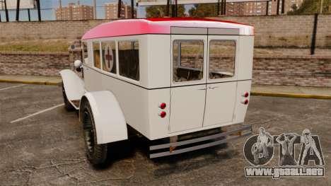 Gaz-AA ambulancia para GTA 4 Vista posterior izquierda